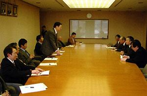 2010年2月8日 鶴岡市長と初めて懇親会